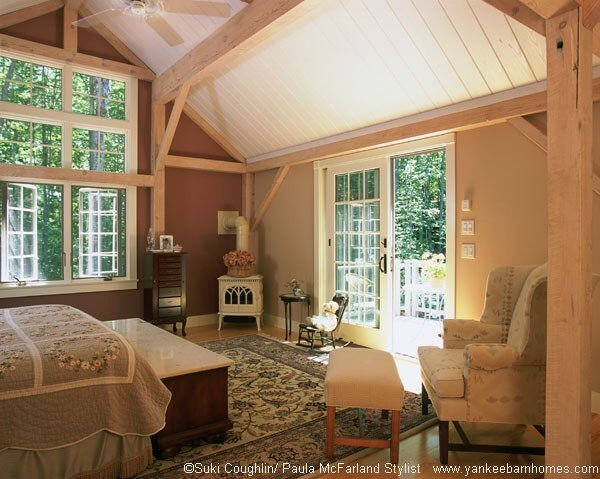 Timber Frame Master Bedroom
