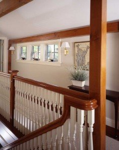"""The owner of this gorgeous RI post and beam mimiced parts of her historic Boston area home while simultaniously incorperating the beauty of the exposed timber frame. She calls it """"Having my cake and eating it, too."""" I couldn't agree more!"""