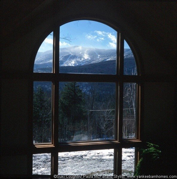 A View of Bretton Woods from a Yankee Barn Post and Beam