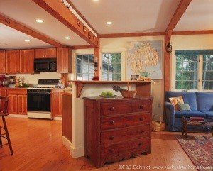 A lovely kitchen/breakfast nook put together without breaking the homeowner's budget.