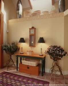 The entryway as it appeared before being redecorated.