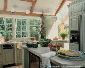 Once the redecorating began, the homeowners decided the kitchen would also be redone.