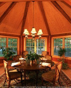 Again, notice the blend of rustic and elegant elements; a staple of the Adirondack Style.