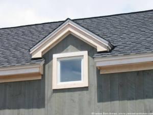 Gable dormer with barn window