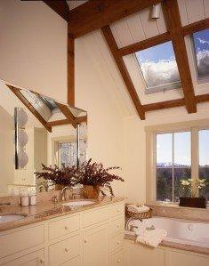 Timber Frame Master Bath by Yankee Barn Homes