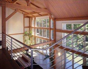 Timber Frame Modern Interior