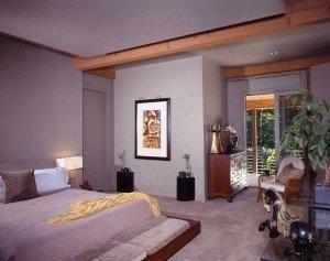 Modern Post & Beam Bedroom