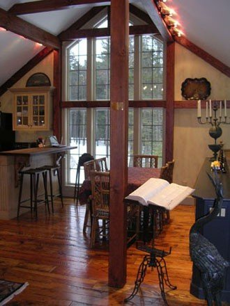 Post and Beam Dining Room