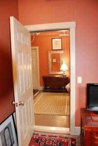 Doorway from the TV room to the guest room/office.