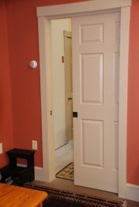 the insulated pocket door that leads to the third bay and my husband's car!