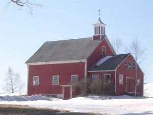 With the cupola placed to envoke the feel of a church steeple, this stylish barn demands your worship
