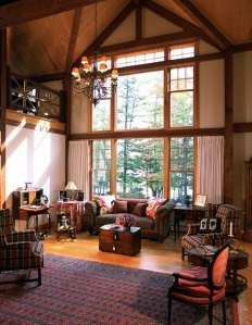 Great room of a barn home