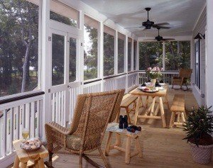 The gorgeous wrap around porch allows the best of both worlds: the great outdoors with no bugs!