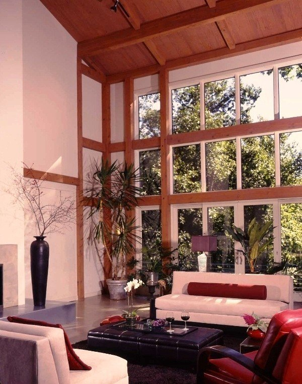 Contemporary Post and Beam Great Room