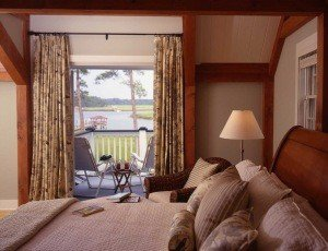 The master bedroom has a private balcony with one of the prettiest views on Edisto Island.
