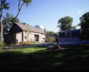 Modern post and beam barn home