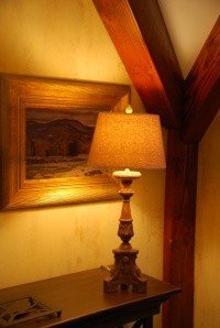 Faux Venetian plaster paint technique in golden shades of yellow equals dramatic warmth.