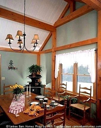 TImber Frame Dining Room Yankee Barn Homes