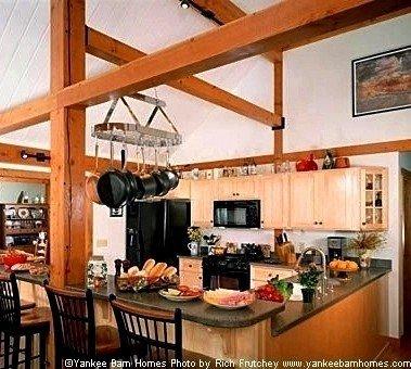 Post & Beam Kitchen Yankee Barn Homes