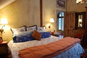 Post and Beam Master Bedroom