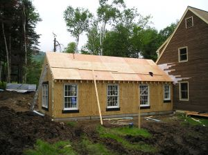 A timber frame addition.