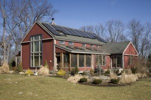 The timber frame goes SUSTAINABLE or Solar is SO Hot!!!