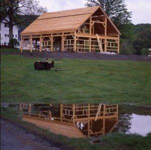 Timber Frame VT Barn
