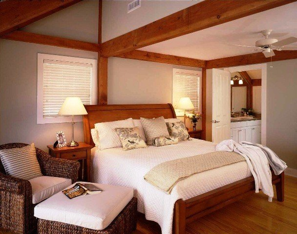 Post & Beam Master Bedroom