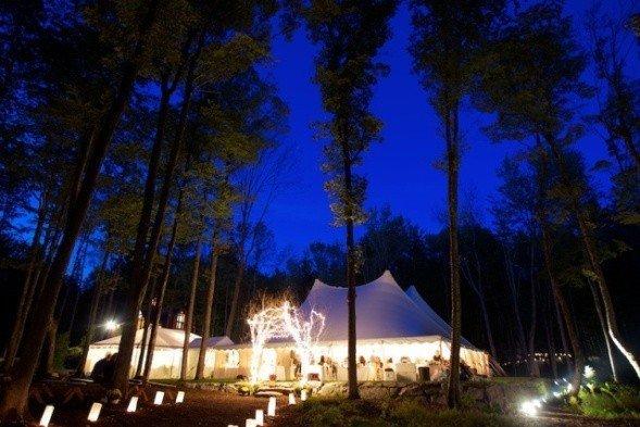 Wedding Tent Lighted