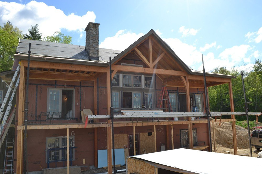 Ashuelot Lodge - Custom Panelized Timber Frame Mountain Lodge