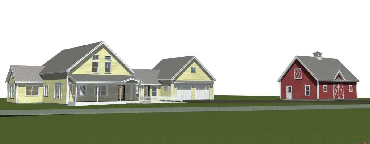 Custom Designed Post and Beam Farmhouse by Yankee Barn Homes