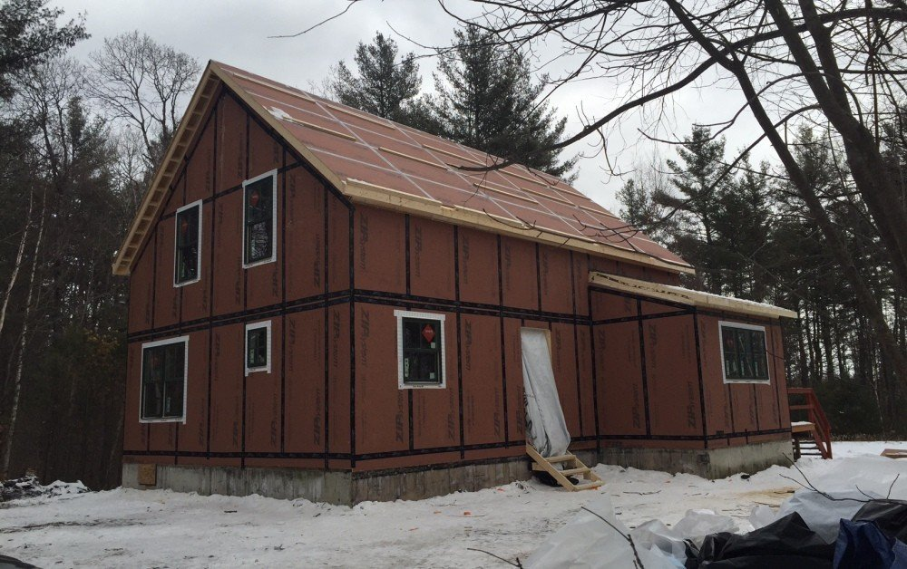 Panelized Small Barn Home Site Construction