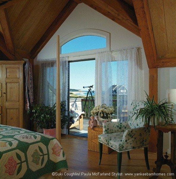 Prefabricated ocean home bedroom