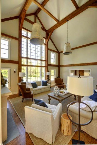 Laurel Hollow modern contemporary barn home in East Hampton - PHOTOGRAPHY BY CHRIS FOSTER