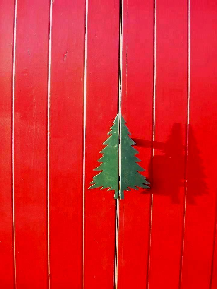 Christmas Tree Farm Decorative Barn Door Handle