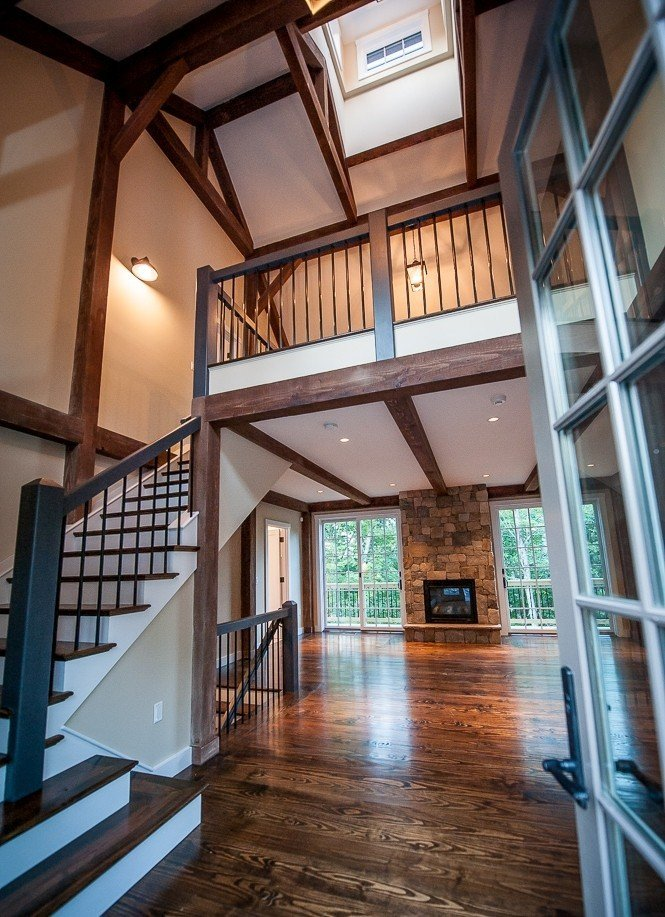 Grantham Lakehouse Post and Beam Barn Home - PHOTOGRAPHY BY STEFANIE MARTIN OF NORTHPEAK DESIGN
