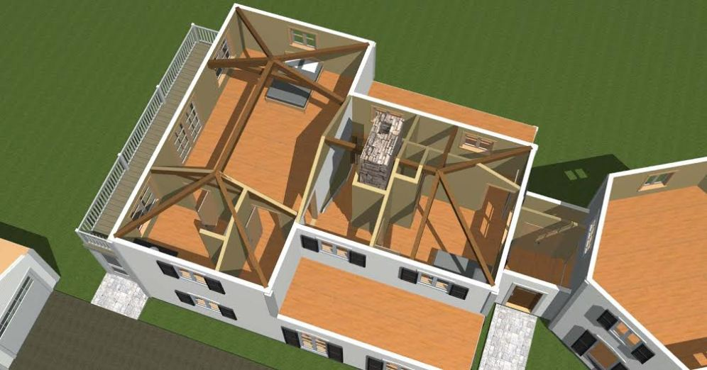 Post and Beam Visual Rendering