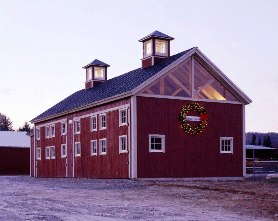 King Post Truss Barn