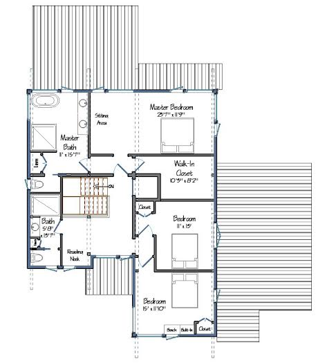 Mad River Modern Level Two Floor Plan