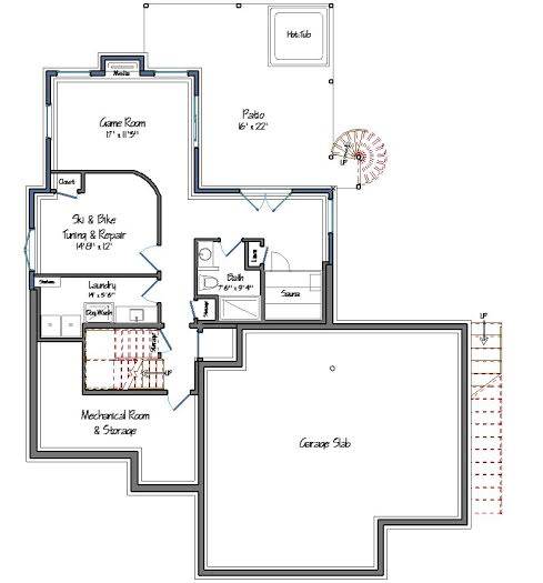 Mad River Modern Lower Level Floor Plan