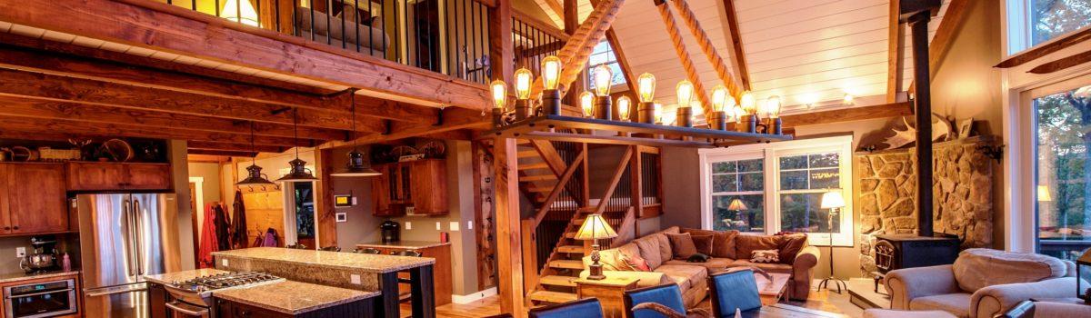 Lighting Moose Ridge Lodge
