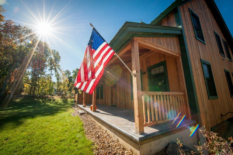 Post and Beam Farmhouse Porch