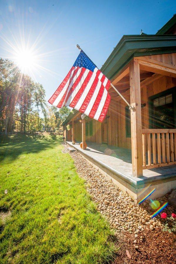 Timber Frame Farmhouse Porch