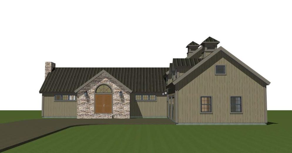 Hunt Valley Barn House Plans Front