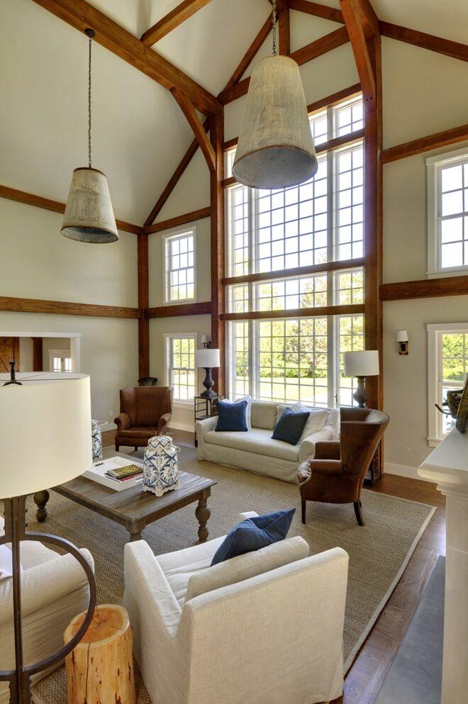 Yankee Barn Great Room at Laurel Hollow