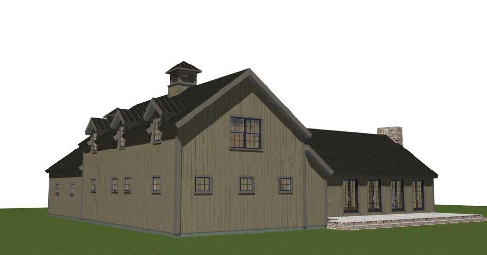 Hunt Valley Barn House Plans Angled Back