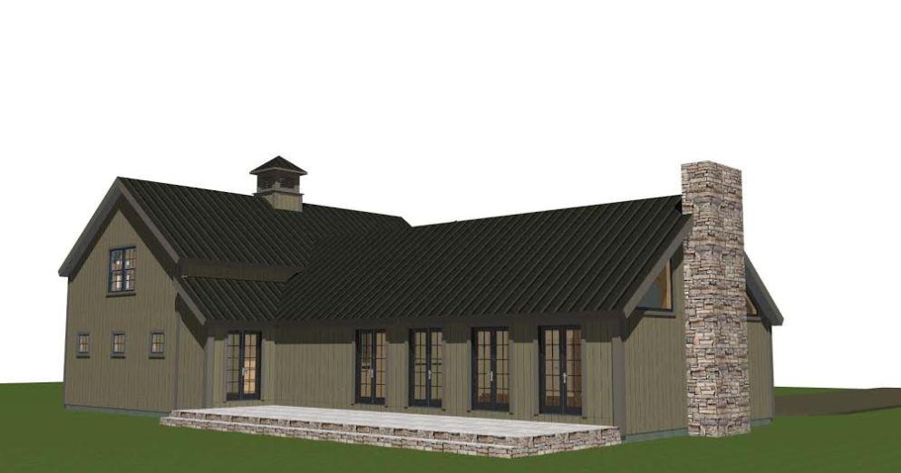 Hunt Valley Barn House Plans Back