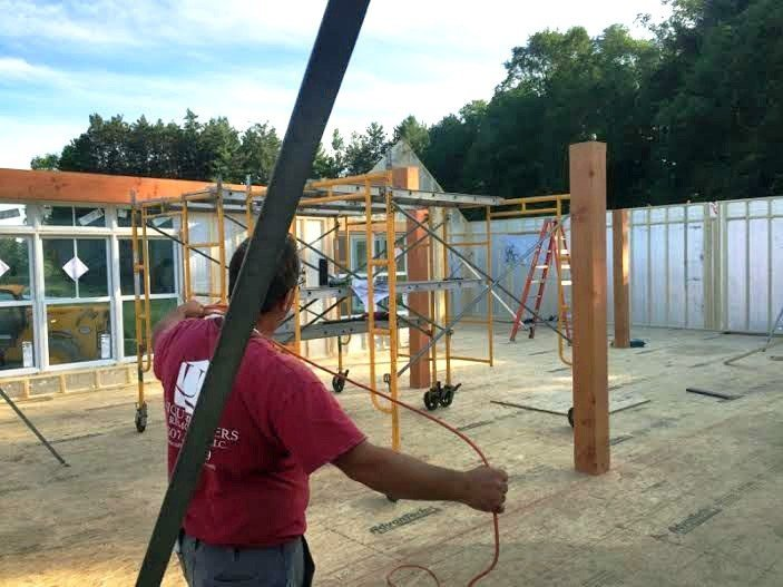 Cooperstown Post and Beam Goes Up