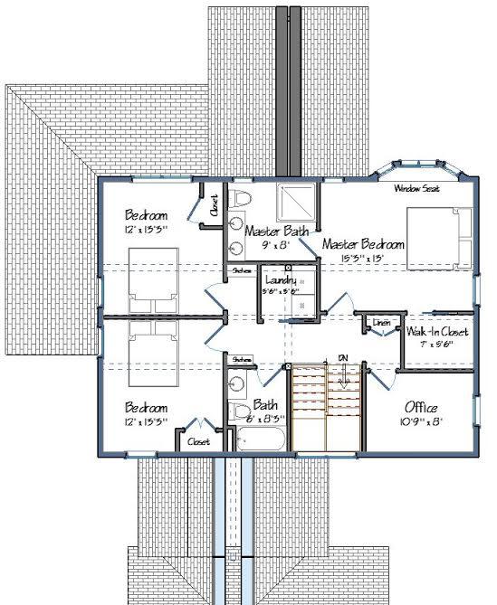 The Alexandria Level Two Floor Plan