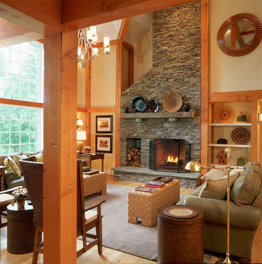 Timber Frame Barn Home Great Room
